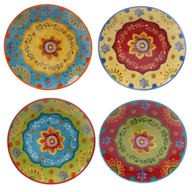 jcpenney.com | Certified International Tunisian Sunset Set of 4 Dinner Plates
