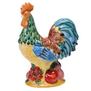 Certified International French Country 3-D Rooster Cookie Jar