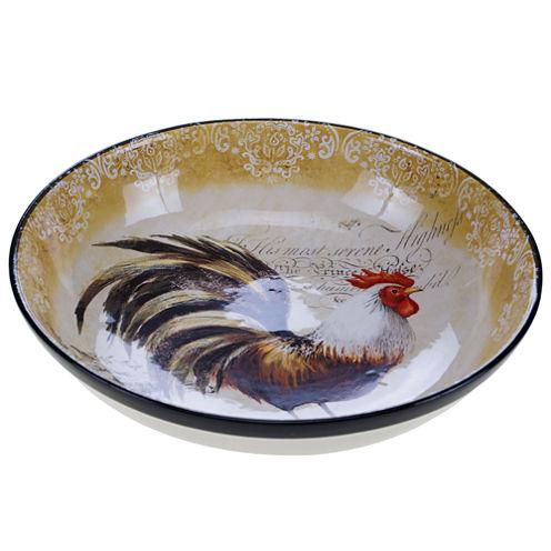 Certified International Vintage Rooster Serving Bowl