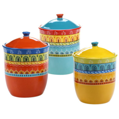 jcpenney.com | Certified International 3-pc. Valencia Canister Set