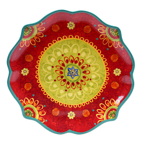 Certified International Tunisian Sunset Round Platter