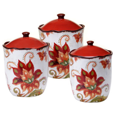 jcpenney.com | Certified International Spice Flowers 3-pc. Canister Set