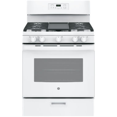 "jcpenney.com | GE® 5.0 cu. ft. 30"" Free-Standing Gas Range"""
