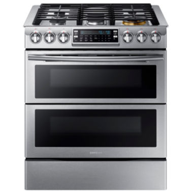 jcpenney.com | Samsung 5.8 Cu. Ft. Flex Duo™ With Dual Door Slide-In Double Oven Gas Range