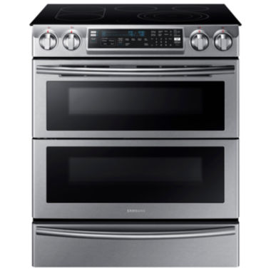 jcpenney.com | Samsung 5.8 Cu. Ft. Flex Duo™ With Dual Door Slide-In Double Oven Electric Range
