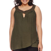 Alyx® Sleeveless Keyhole Layered Top - Plus