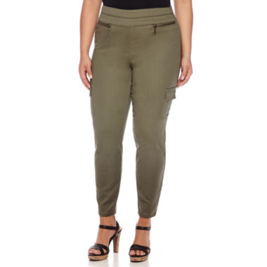 jcpenney.com | Bisou Bisou® Cargo Skinny Pants - Plus