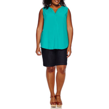 jcpenney.com | St. John's Bay® Crossback Tank Top or Twill Bermuda Shorts - Plus