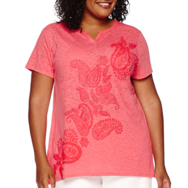 jcpenney.com | St. John's Bay® Short-Sleeve Graphic Tee - Plus