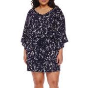 Boutique+ Knit Kimono Romper - Plus
