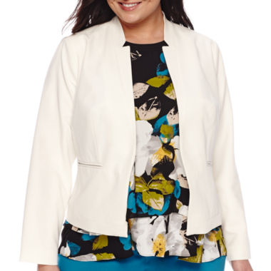 jcpenney.com | Worthington® Notched Collar Jacket - Plus