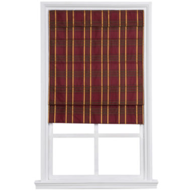jcpenney.com | Custom Cordless Large-Fold Imperial Plaid Lined Roman Shade