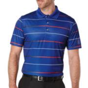 PGA TOUR® Stripe Golf Polo - Big & Tall