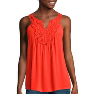 jcpenney.com | a.n.a® Crochet Swing Tank Top