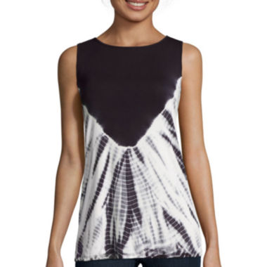 jcpenney.com | BELLE + SKY™ Tie Dye Twist Back Tank Top