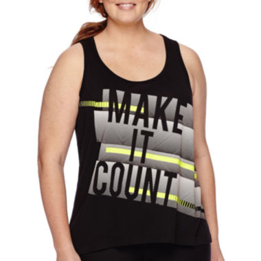 jcpenney.com | Xersion™ Graphic Tank Top - Plus