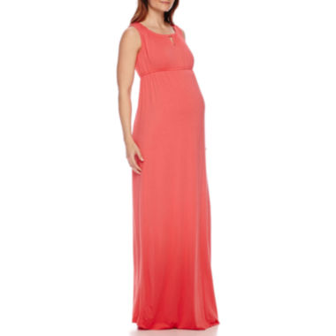jcpenney.com | Sleeveless Keyhole Maxi Maternity Dress