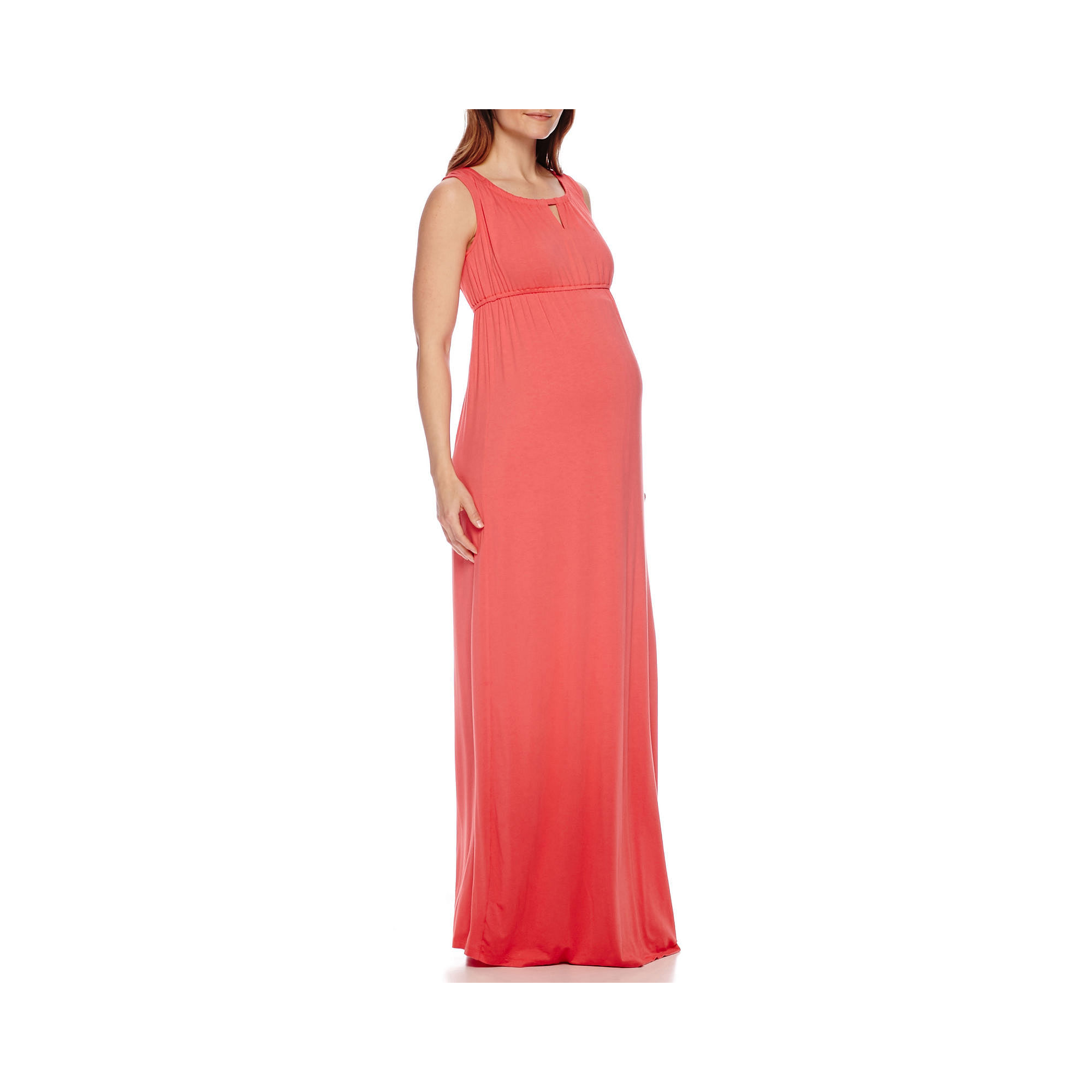 Sleeveless Keyhole Maxi Maternity Dress plus size,  plus size fashion plus size appare