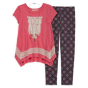 Self Esteem® Short-Sleeve Tee and Leggings Set - Plus