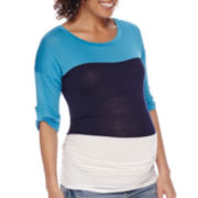 Maternity Elbow-Sleeve Tee or Overbelly Bermuda Shorts