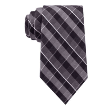 jcpenney.com | Stafford® Lakefront Mesh Plaid Silk Tie