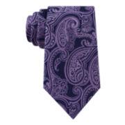 Stafford® Lakefront Ground Paisley Silk Tie
