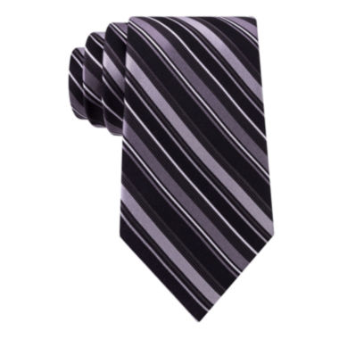 jcpenney.com | Stafford® Lakefront Track Stripe Tie - Extra Long