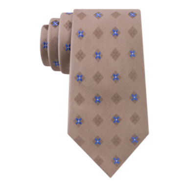 jcpenney.com | Stafford® Lakefront Open Ground Neat Silk Tie