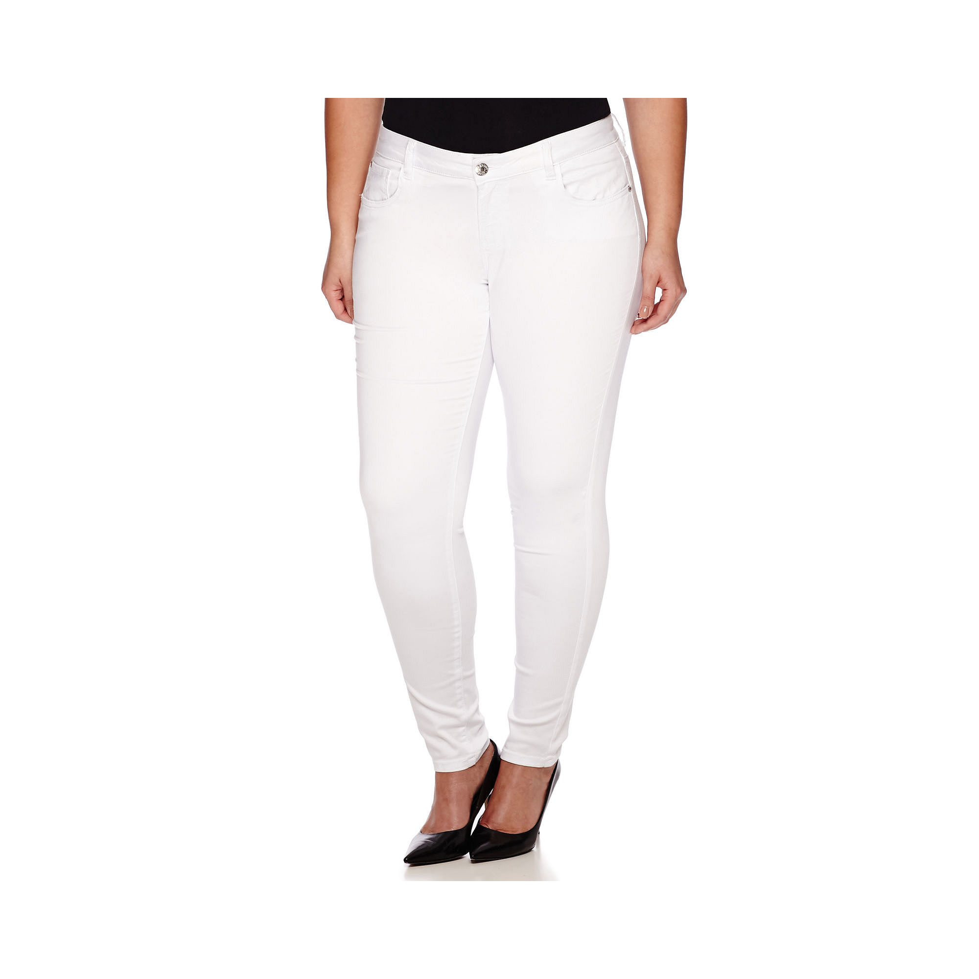 C-Pink Super-Stretchy Skinny Jeans - Juniors Plus plus size,  plus size fashion plus size appare