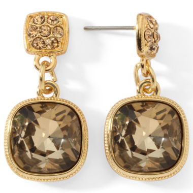 jcpenney.com | Monet® Brown Stone Drop Earrings
