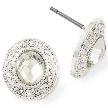 jcpenney.com | Monet® Crystal Button Earrings