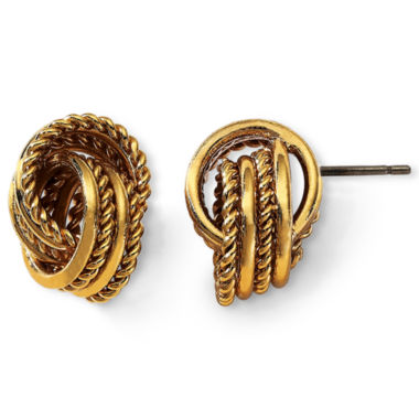 jcpenney.com | Monet® Gold-Tone Knot Earrings