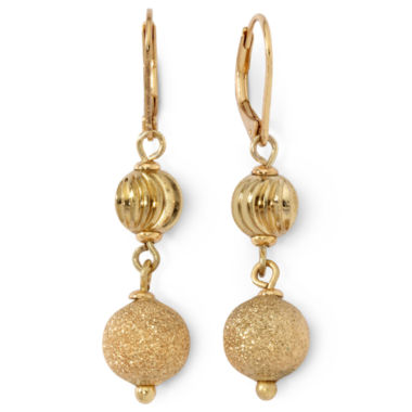 jcpenney.com | Monet® Gold-Tone Double-Drop Earrings