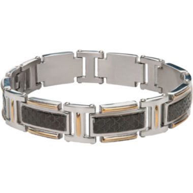 jcpenney.com | Mens Stainless Steel Two Tone Bracelet