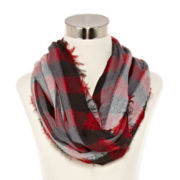 Checked Infinity Scarf