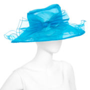 Feather Organza Dressy Derby Hat