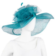 Feather Organza Derby Dressy Hat