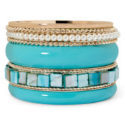 Aris by Treska Mixed Metal Bangle Set