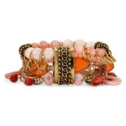 Aris by Treska Peach Bellini Statement Stretch Bracelet