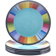 Certified International Serape Set of 6 Melamine Dinner Plates