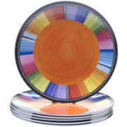 Serape Set of 6 Melamine Salad Plates