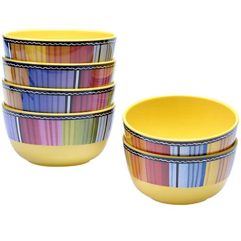 Certified International Serape Melamine Set of 6 Ice Cream Bowls