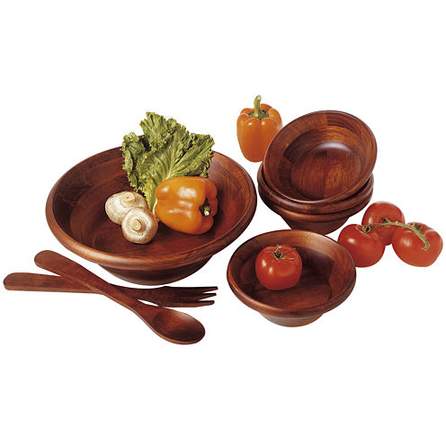 7-pc. Wood Salad Serving Set