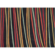 Loloi Aurora Black Stripe Rectangular Rugs