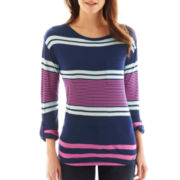 a.n.a® 3/4-Sleeve Striped Print Top - Petite