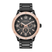 Claiborne® Mens Gunmetal Watch