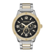 Claiborne® Mens Two-Tone Watch