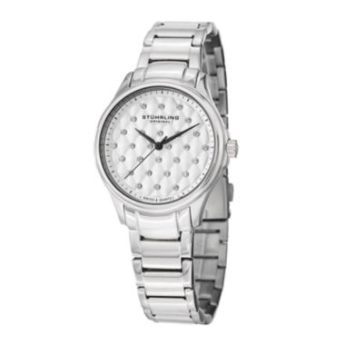 jcpenney.com | Stührling® Original Womens Crystal-Accent Stainless Steel Bracelet Watch