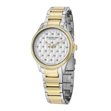 jcpenney.com | Stührling® Original Womens Crystal-Accent Two-Tone Stainless Steel Watch