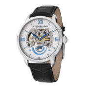 Stührling® Original Mens White Dial Skeleton Automatic Watch